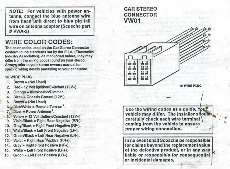 connector_pinout vwvortex com 2000 jetta radio wire colours 2006 vw jetta radio wiring diagram at bayanpartner.co